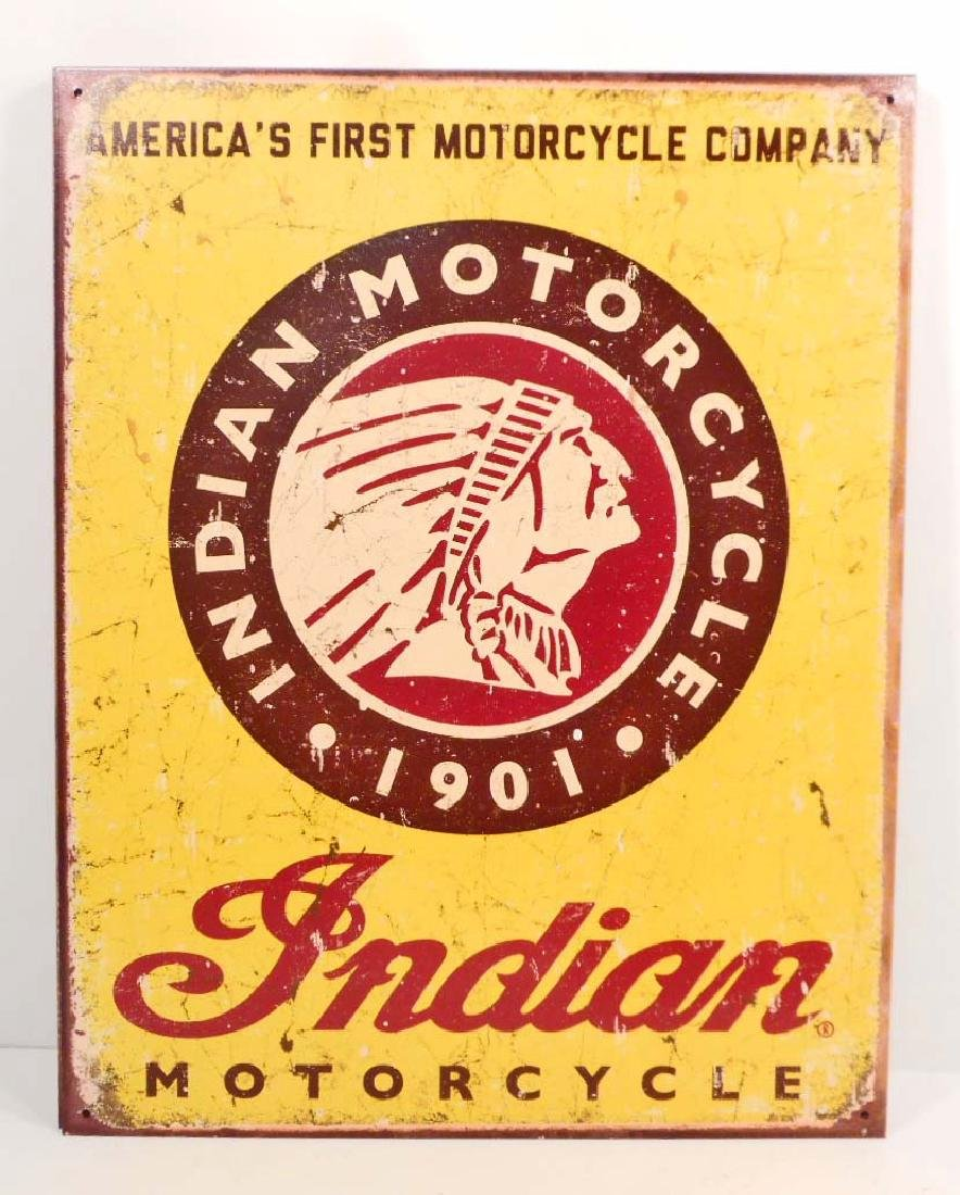 NORTON MOTORCYCLES ADVERTISING METAL SIGN