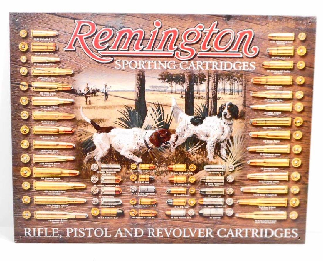 REMINGTON ADVERTISING METAL SIGN