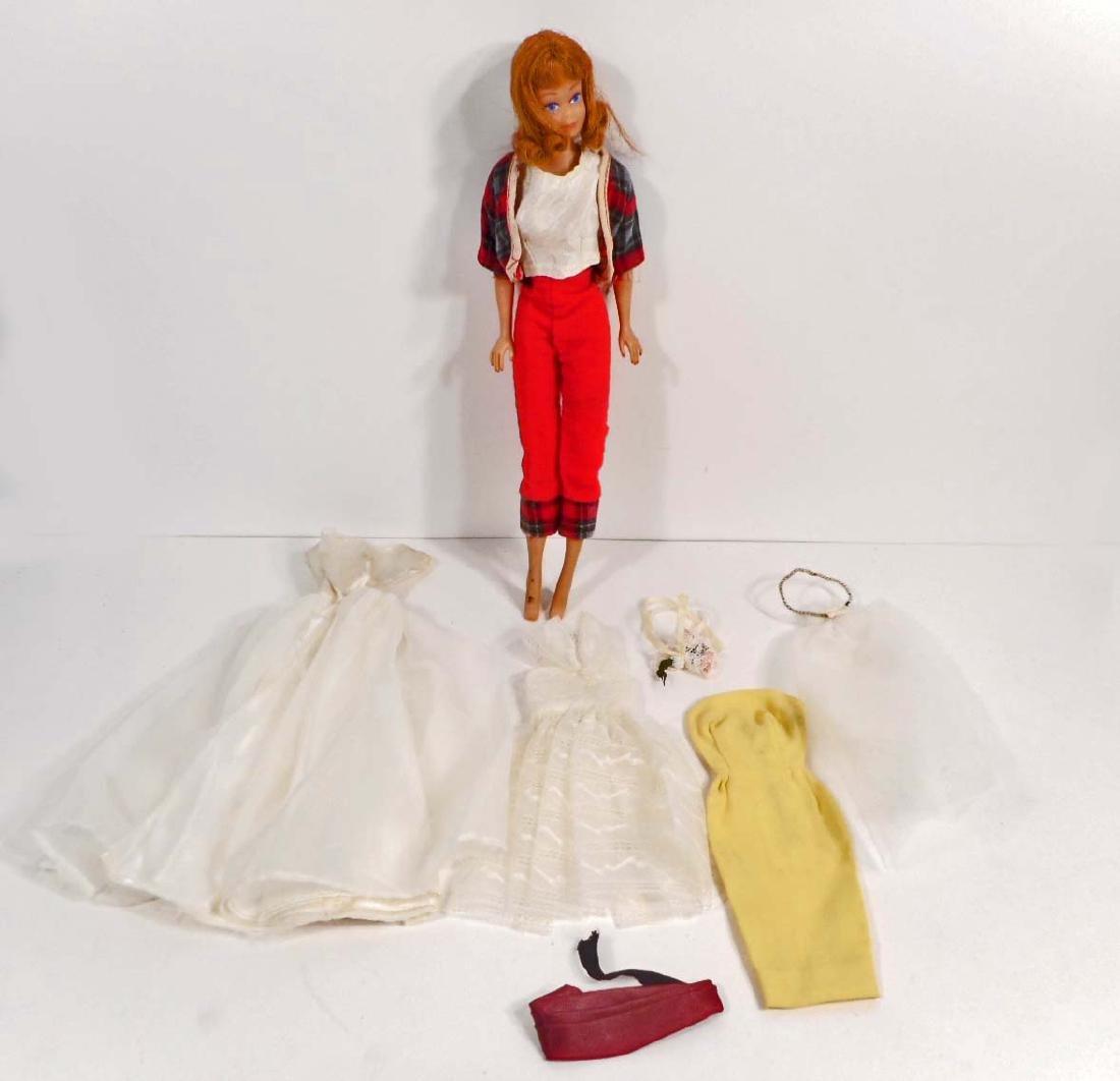VINTAGE C. 1960'S MIDGE BARBIE DOLL W/ CLOTHES
