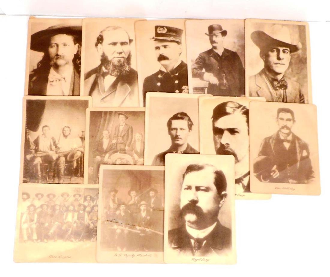 LOT OF 13 PHOTOS OF OLD WEST LAWMEN AND HEROES