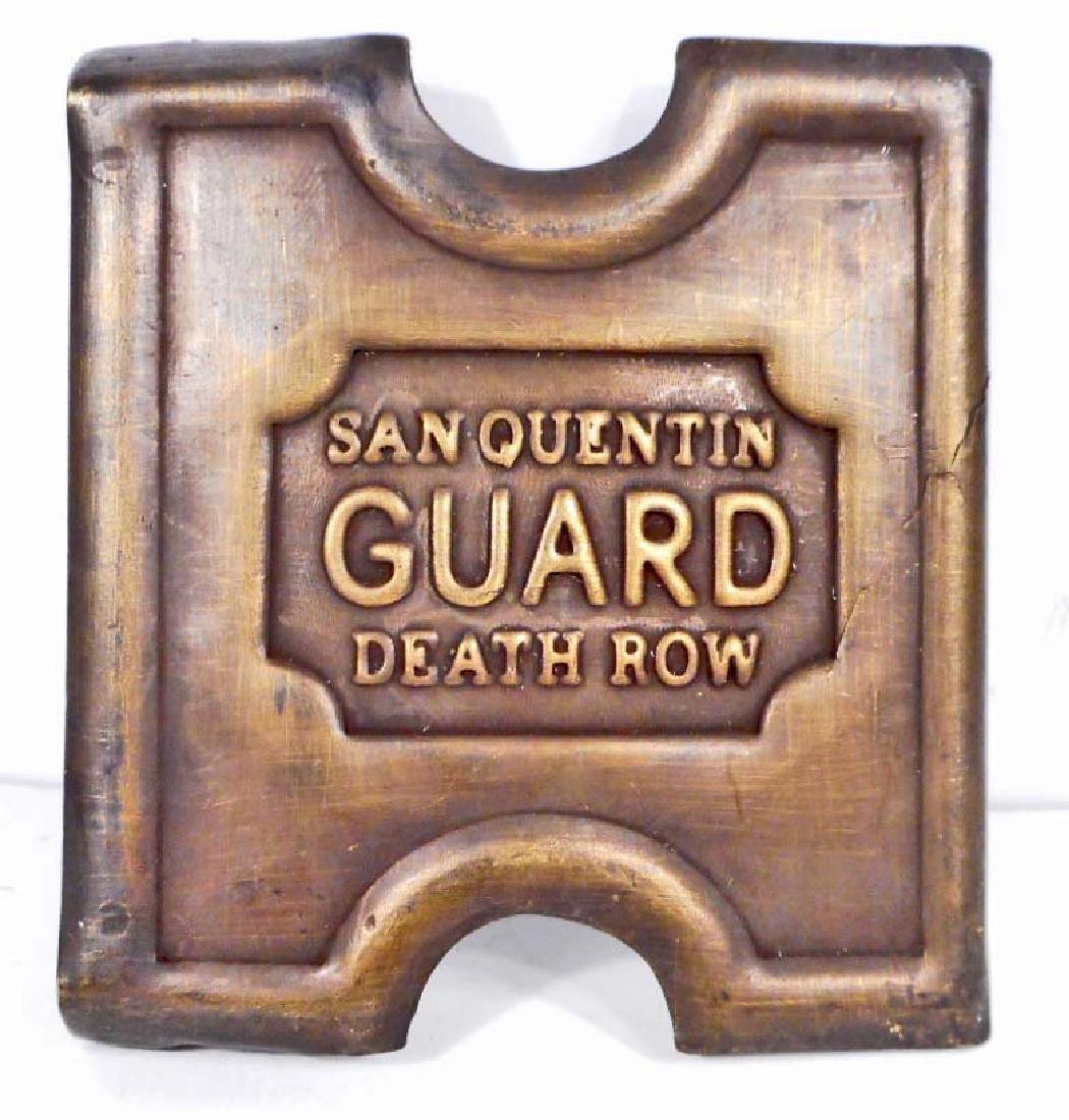 SAN QUENTIN PRISON ANSON MILLS BELT BUCKLE