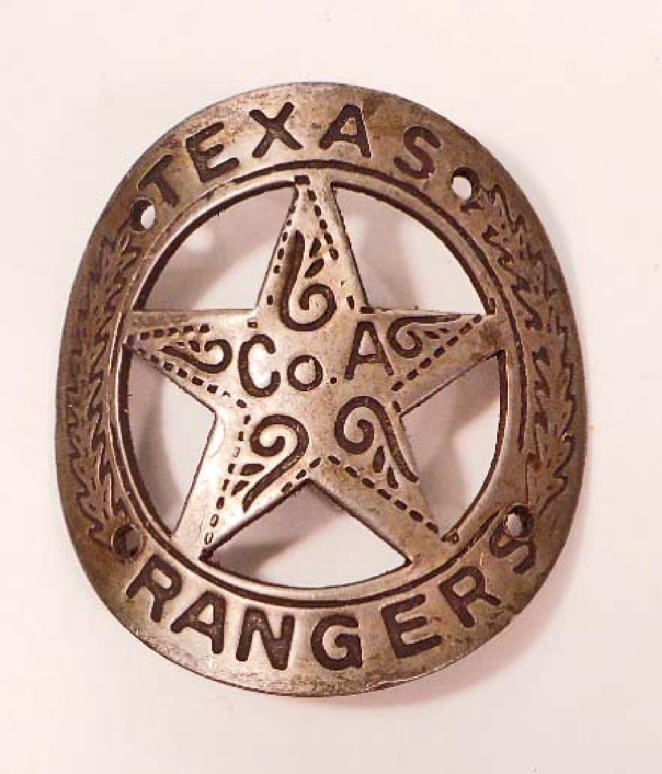 TEXAS RANGERS GUN TAG / PLAQUE