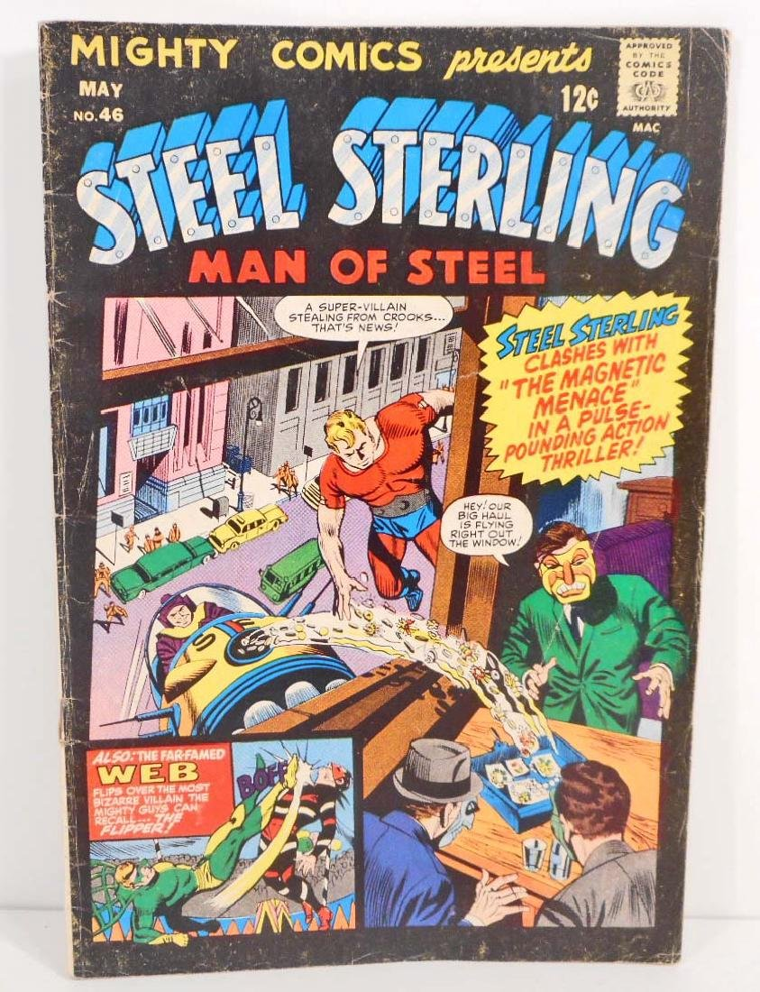 1967 MIGHTY COMICS STEEL STERLING #46 COMIC BOOK - 12