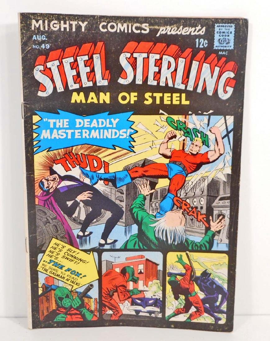 1967 MIGHTY COMICS STEEL STERLING #49 COMIC BOOK - 12