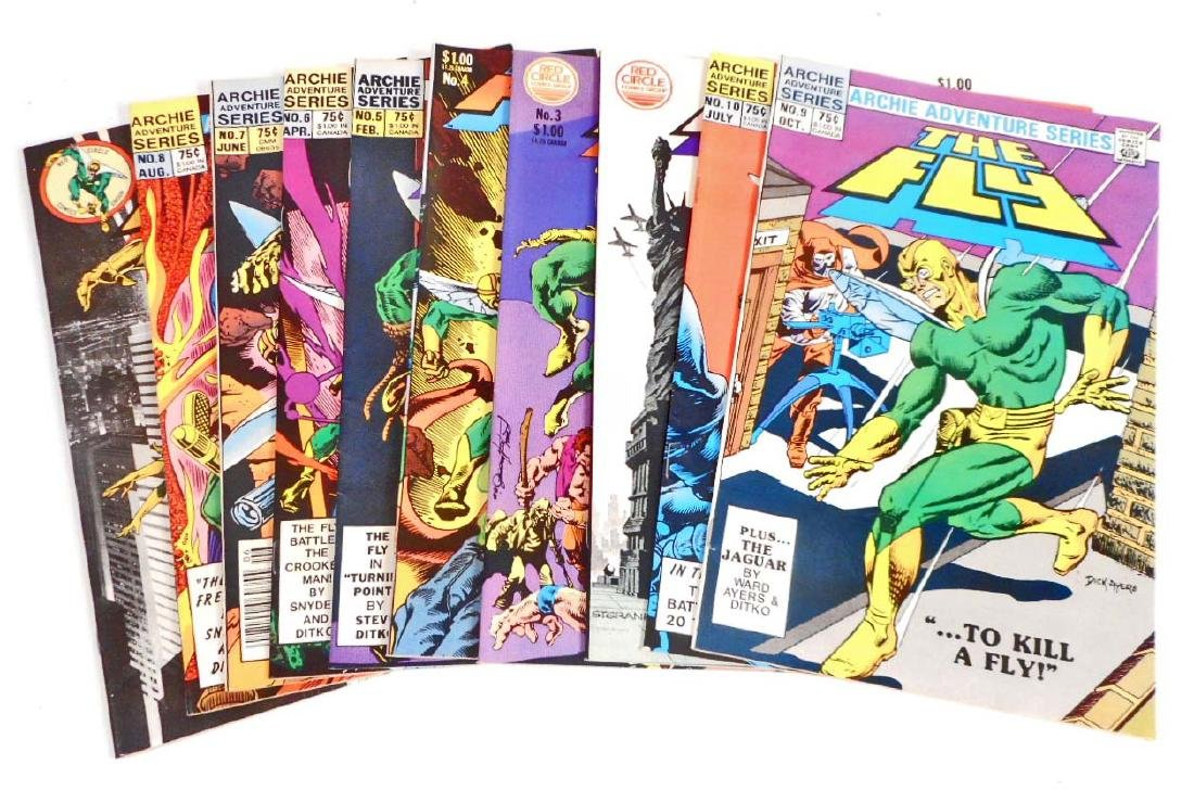 LOT OF 10 VINTAGE COMIC BOOKS - THE FLY - NO'S 1-10