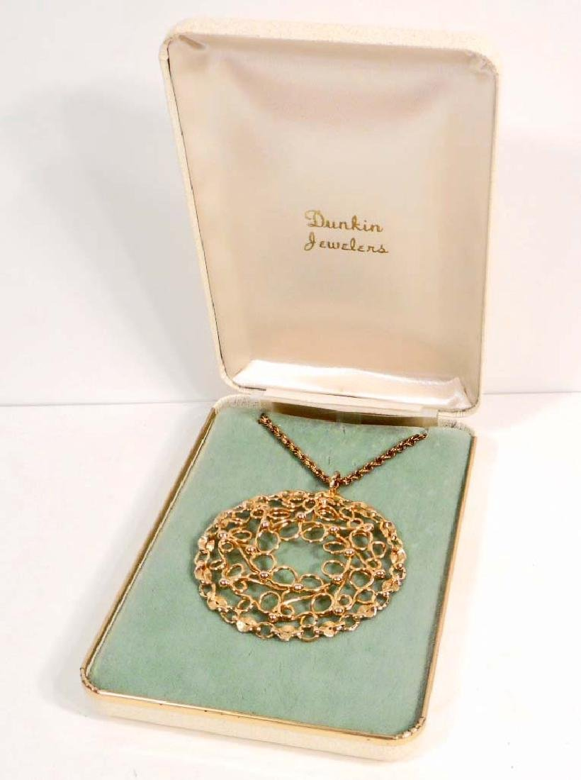 12K GOLD FILLED PENDANT W/ CHAIN FROM DUNCAN JEWELERS