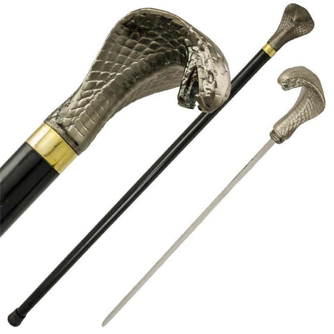 Cobra Head Walking Cane Sword