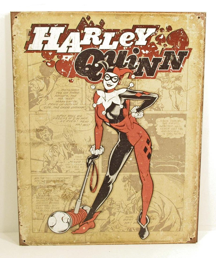 HARLEY QUINN METAL SIGN