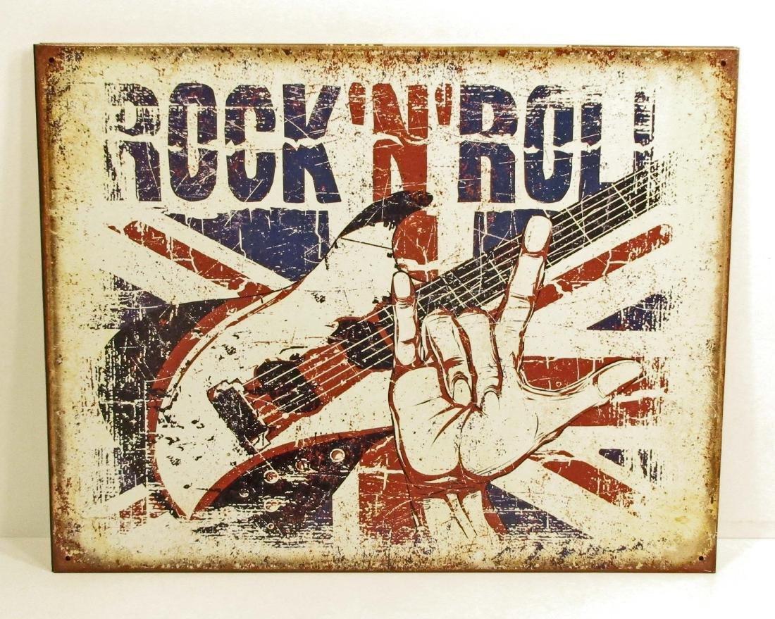 ROCK & ROLL METAL SIGN