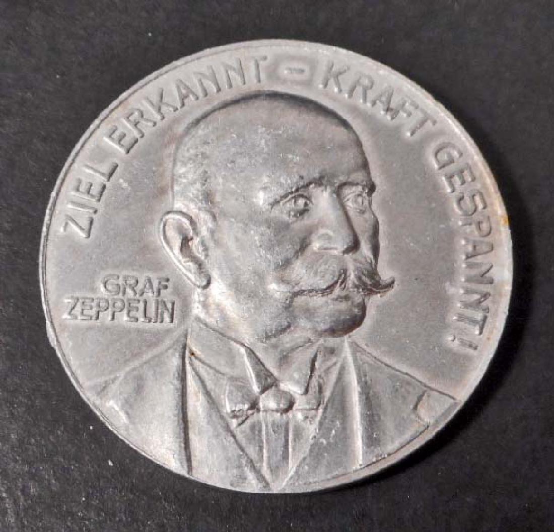 IMPERIAL GERMAN 1908 GRAF ZEPPELIN DONATION TOKEN COIN