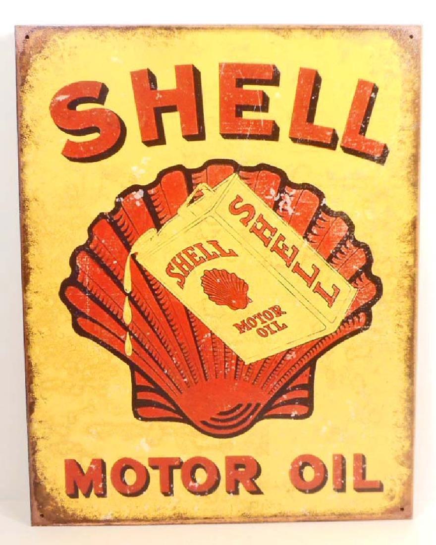 SHELL MOTOR OIL ADVERTISING METAL SIGN