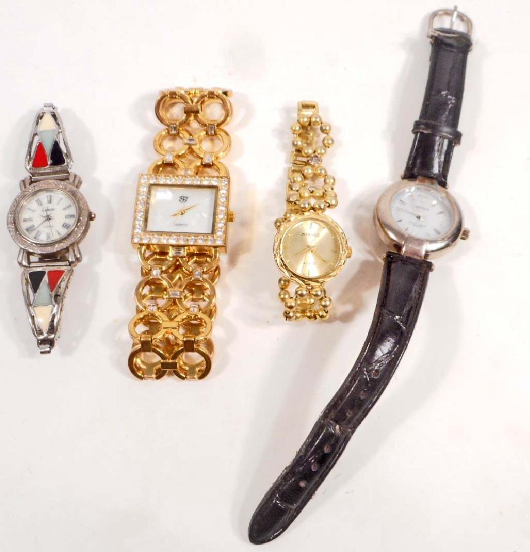 LOT OF 4 LADIES FASHION WRIST WATCHES