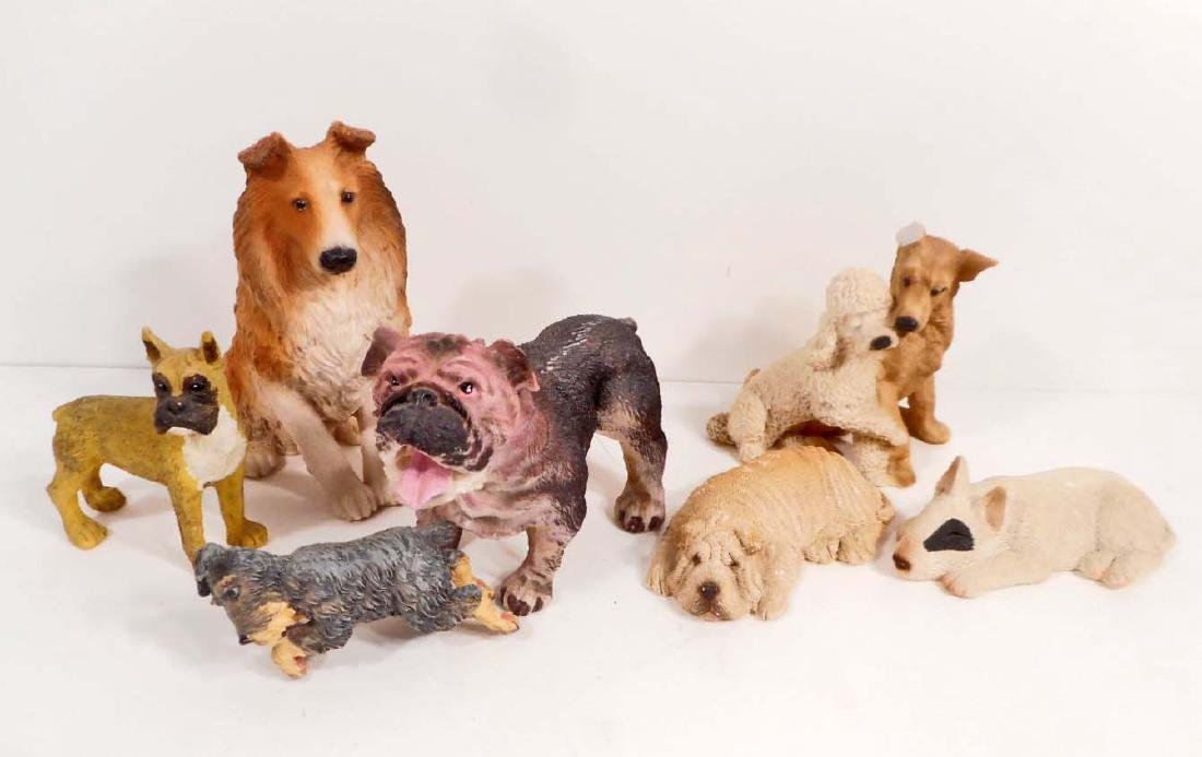 LOT OF VINTAGE DOG FIGURINES