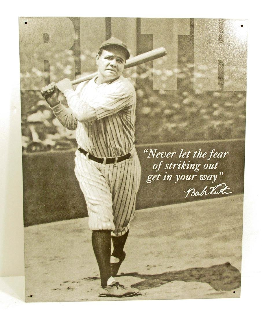 BABE RUTH BASEBALL METAL SIGN