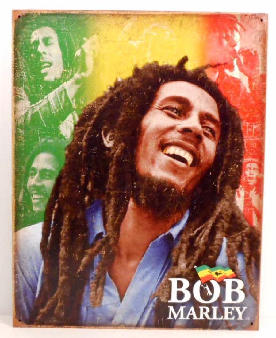 BOB MARLEY FLAG METAL SIGN