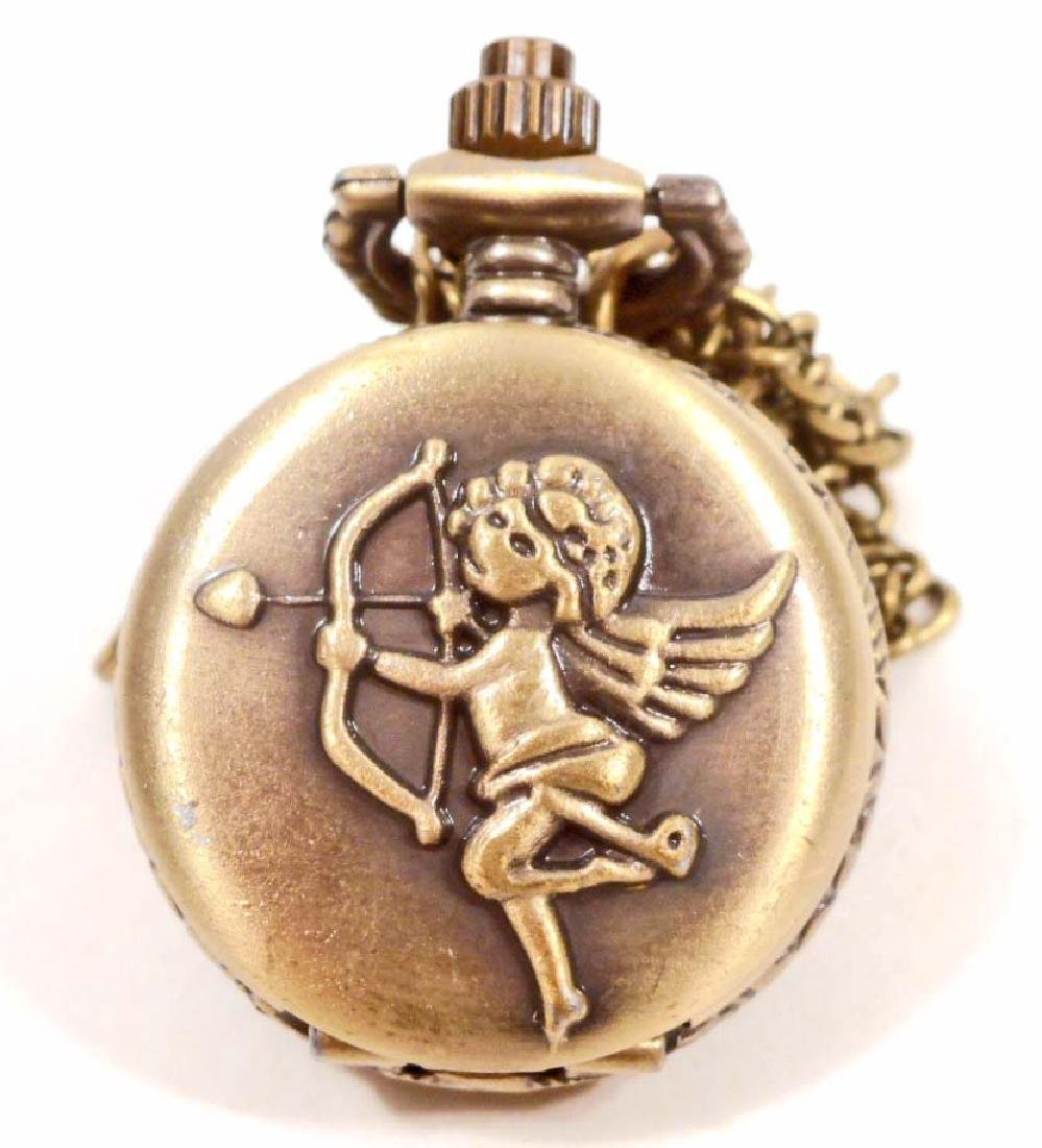 CUPID ANGEL POCKET WATCH W/ CHAIN