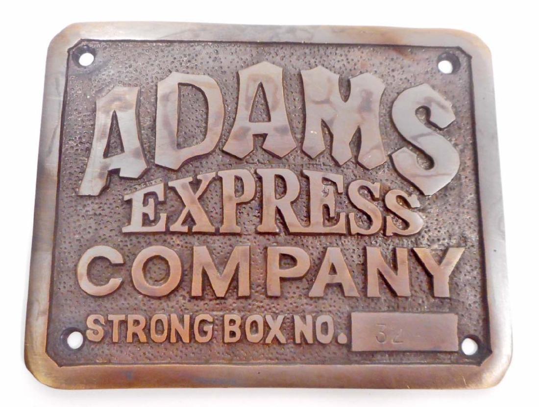 ADAMS EXPRESS CO BRASS PLAQUE