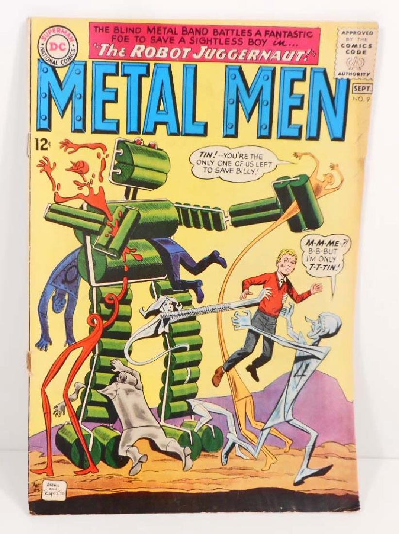 VINTAGE 1964 METAL MEN #9 COMIC BOOK - 12 CENT COVER