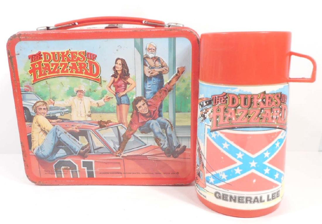 VINTAGE 1980 ALADDIN THE DUKES OF HAZZARD METAL LUNCH