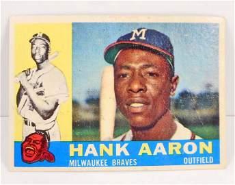 1960 TOPPS HANK AARON NO 300 BASEBALL CARD