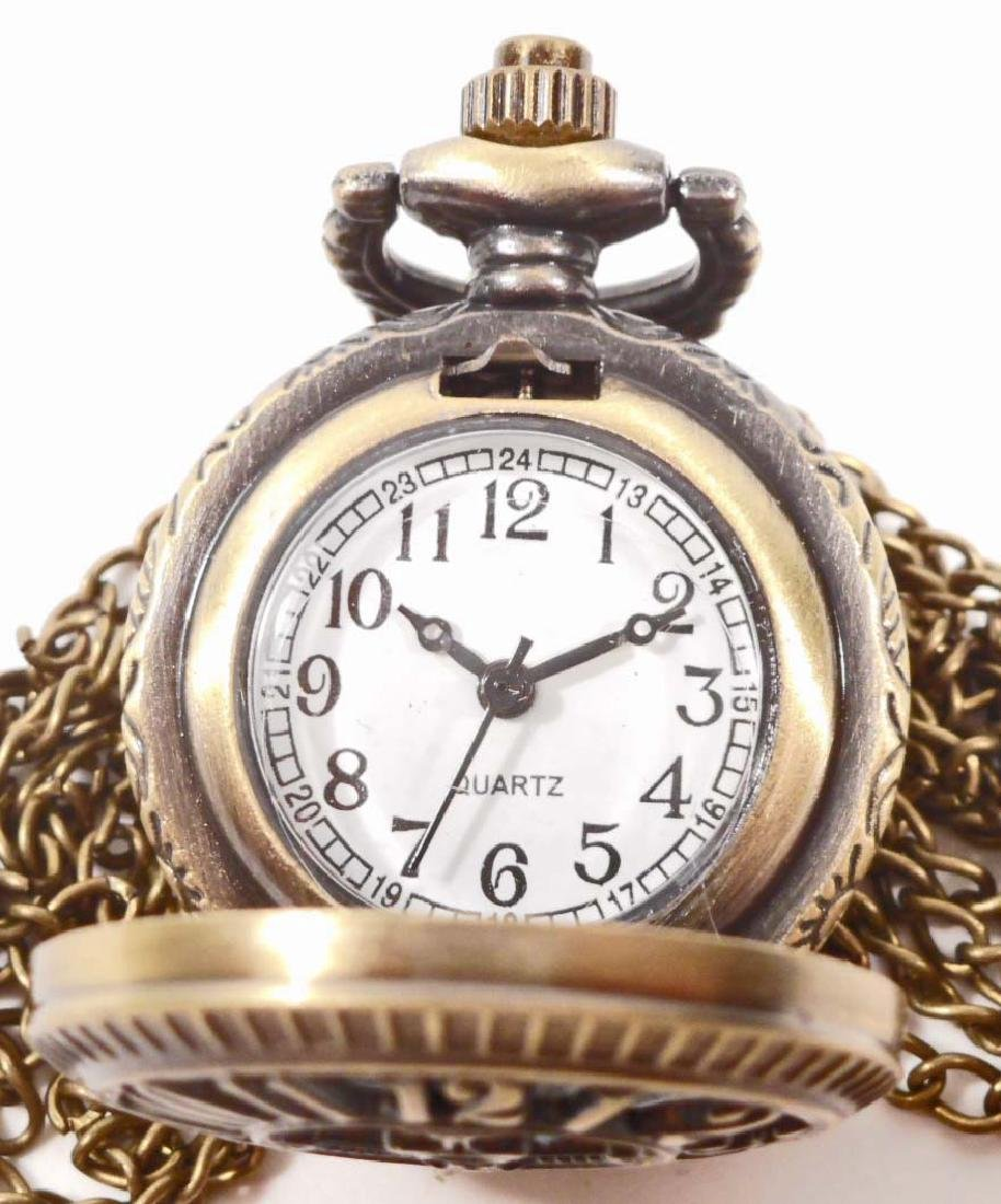 STEAMPUNK NUMBERS POCKET WATCH W/ CHAIN - 2