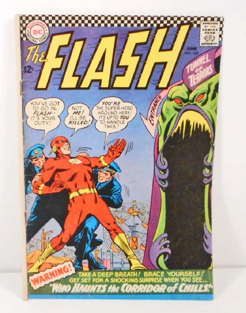 1966 THE FLASH NO. 162 COMIC BOOK W/ 12 CENT COVER