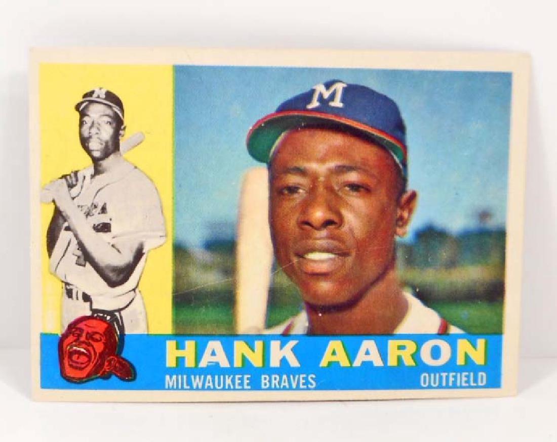 VINTAGE 1960 HANK AARON #300 BASEBALL CARD