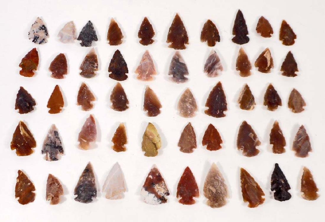 LOT OF 50 OHIO FLINT ARROWHEADS BLADES SPEARPOINTS
