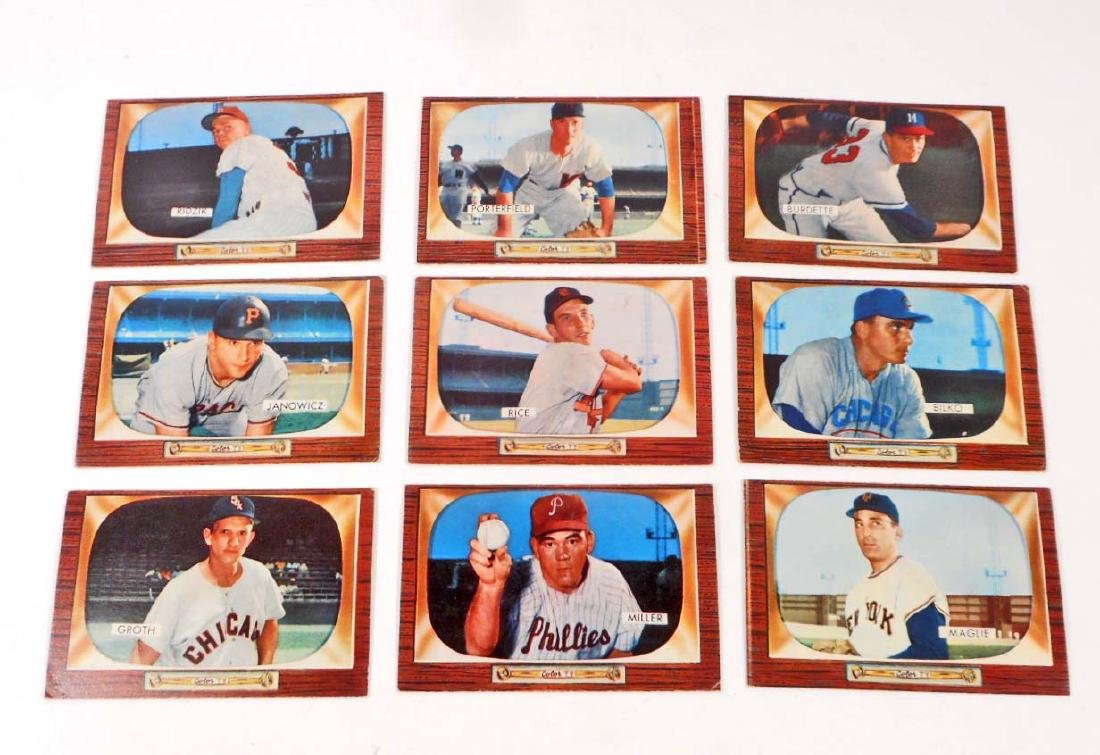 LOT OF 9 1955 BOWMAN BASEBALL CARDS CARDS VG-EX