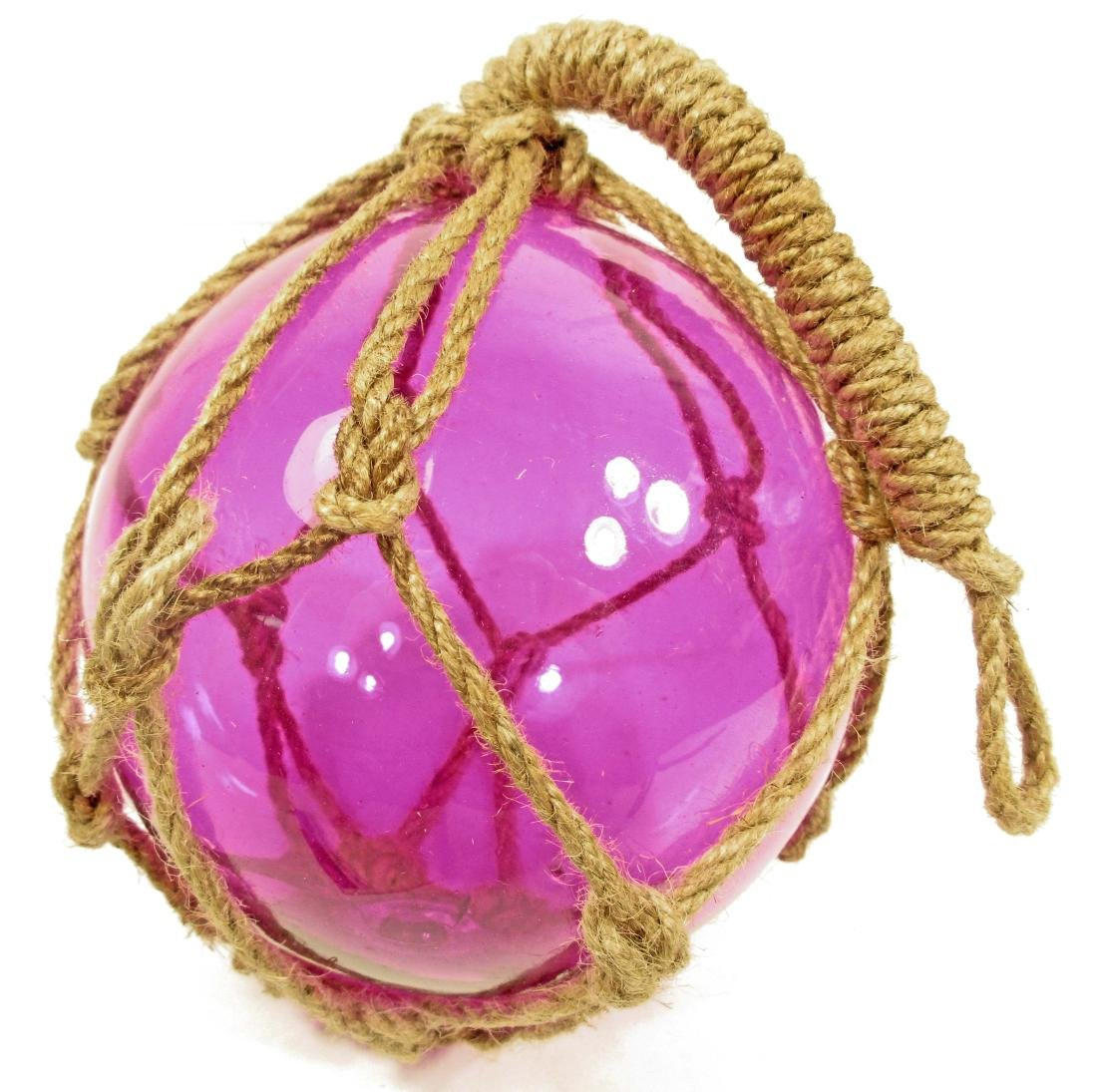 PURPLE GLASS FISHING FLOAT W/ NET
