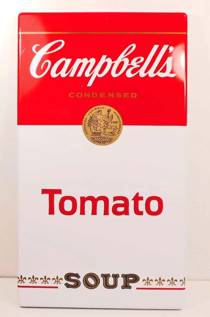 CAMPBELLS TOMATO SOUP ADVERTISING METAL SIGN