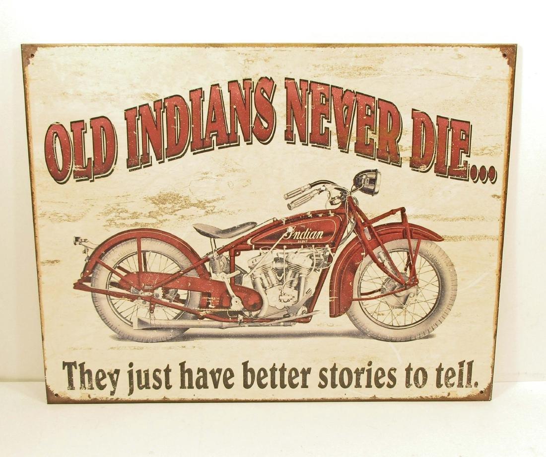 INDIAN MOTORCYCLE ADVERTISING METAL SIGN