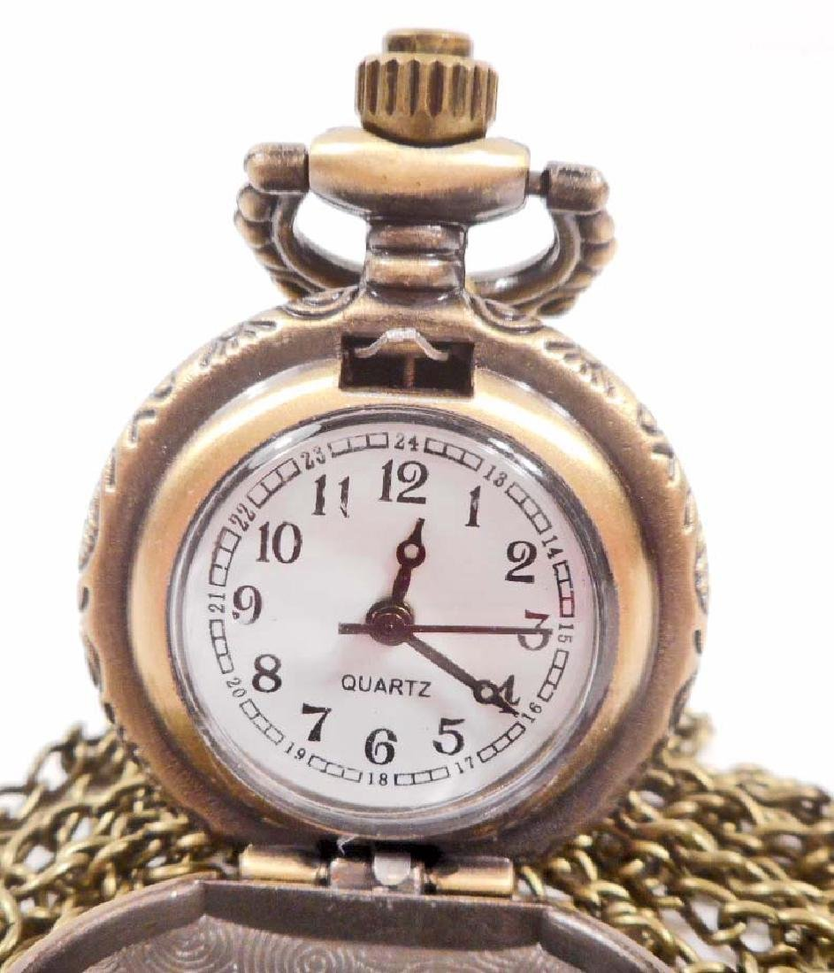 EAGLE WITH WINGS SPREAD POCKET WATCH W/ CHAIN - 2