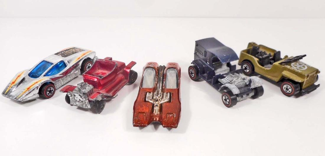 LOT OF 5 VINTAGE MATTEL HOT WHEELS REDLINE TOY CARS