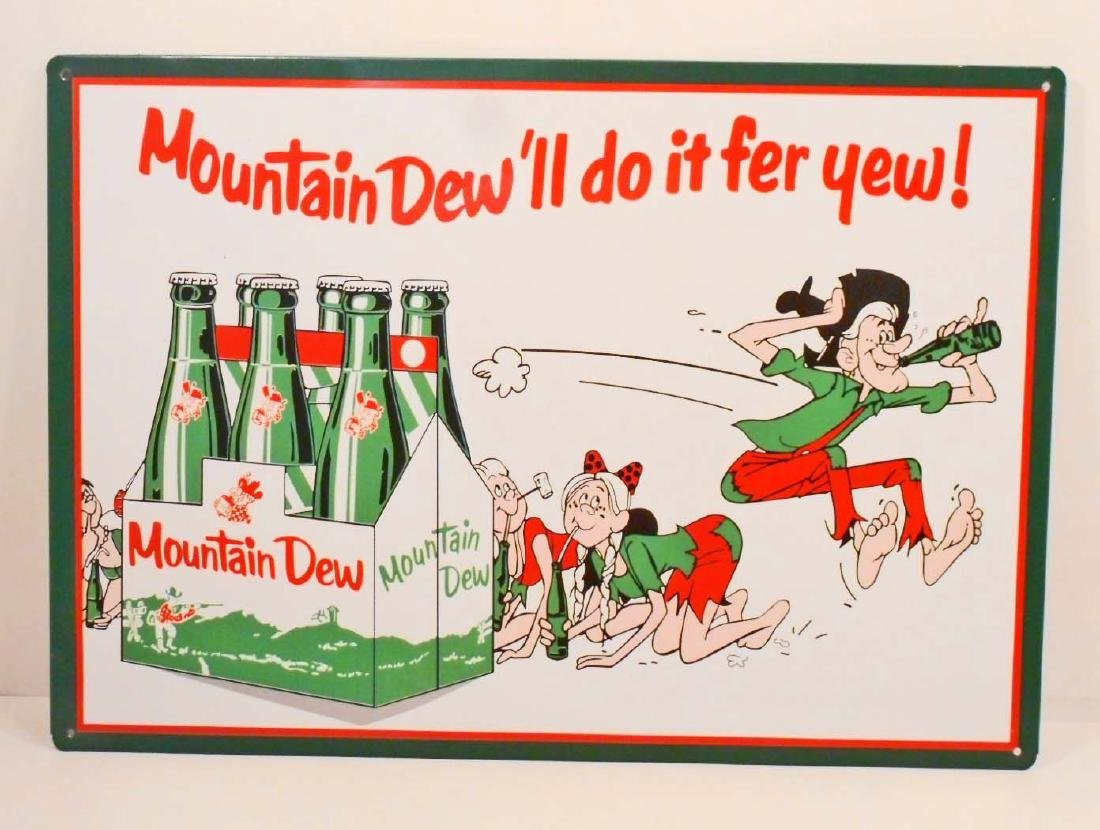 MOUNTAIN DEW ADVERTISING METAL SIGN