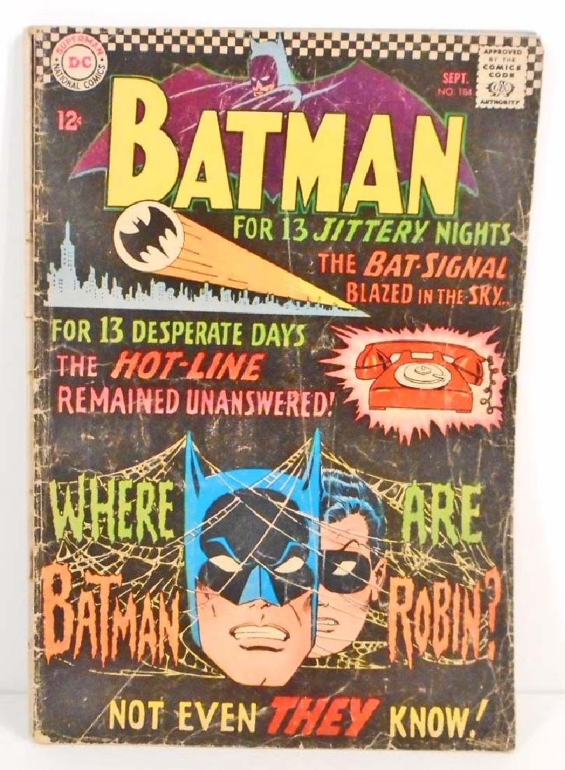 1966 BATMAN #184 COMIC BOOK W/ 12 CENT COVER