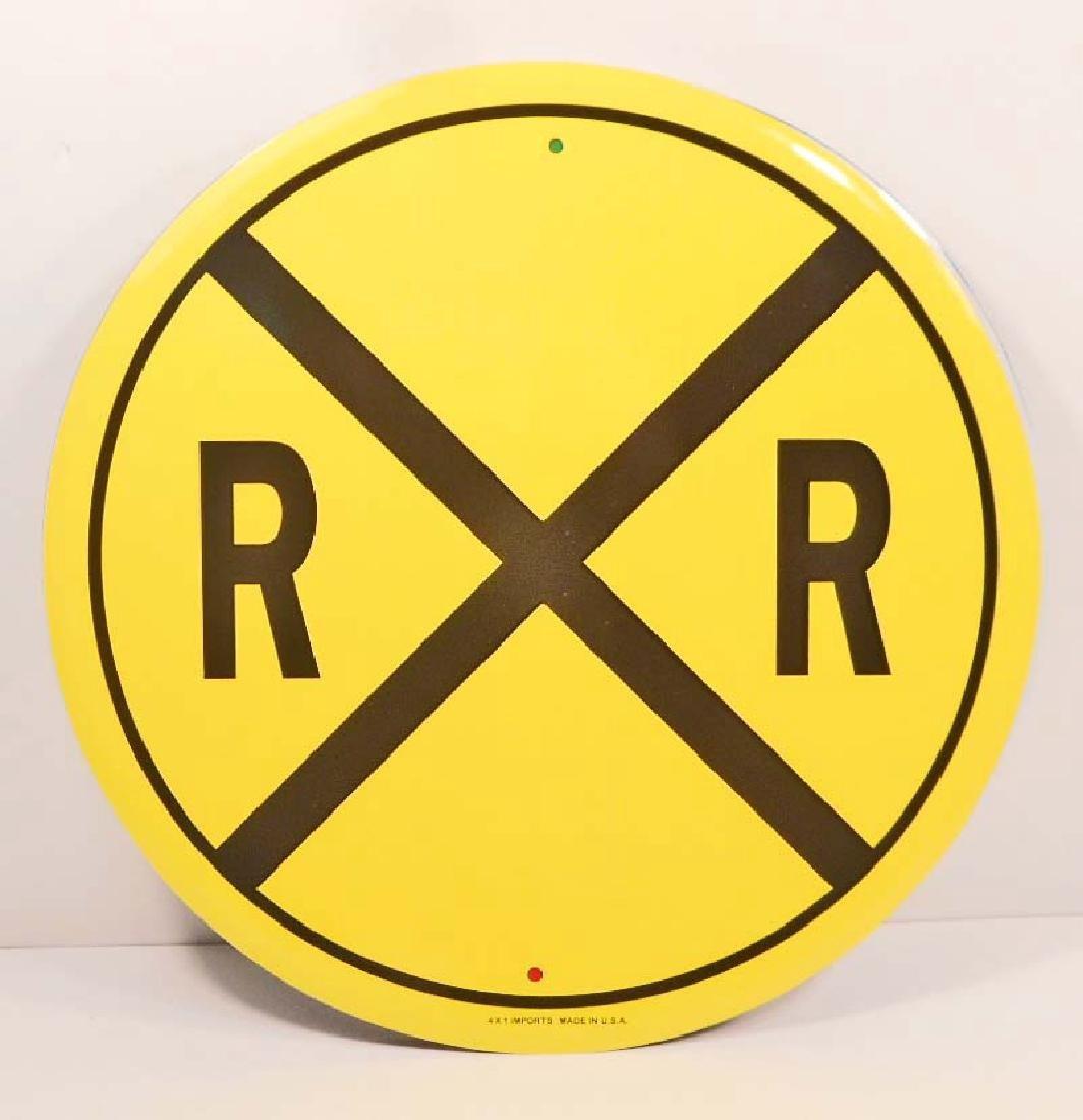 RR RAILROAD CROSSING METAL SIGN