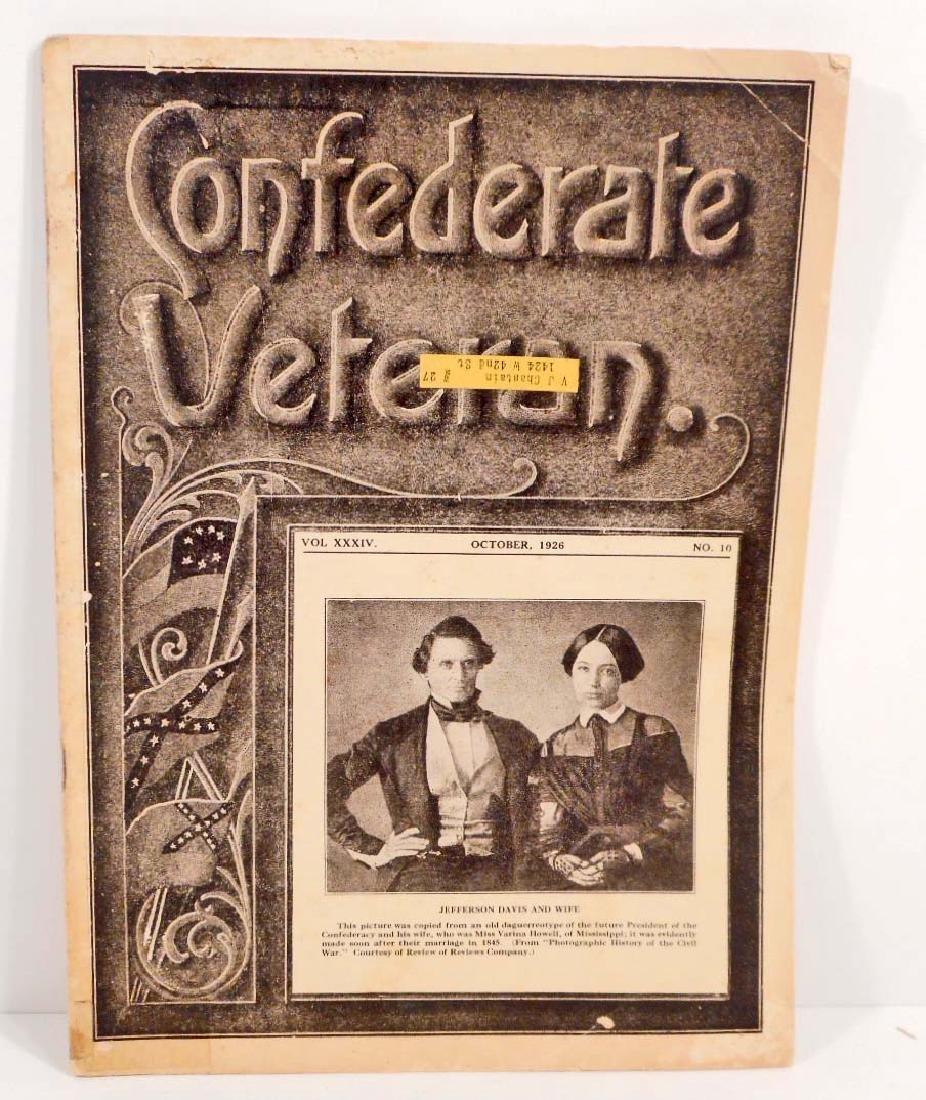 CONFEDERATE VETERAN 1926 MAGAZINE W/ JEFFERSON DAVIS ON