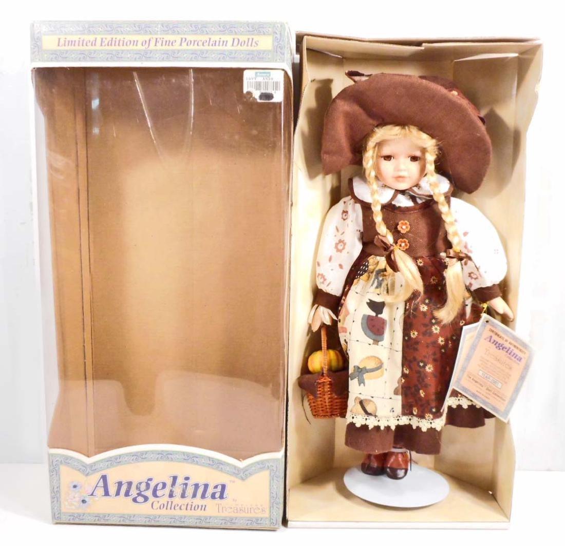 VINTAGE ANGELINA COLLECTION FINE PORCELAIN DOLL IN