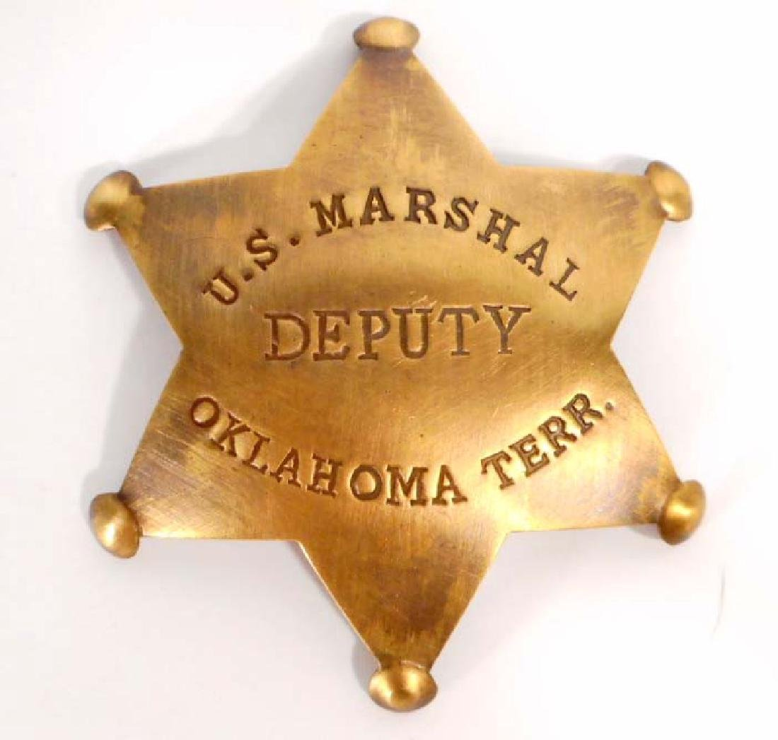 U.S. MARSHAL DEPUTY OKLAHOMA TERR. 6 POINT STAR BADGE