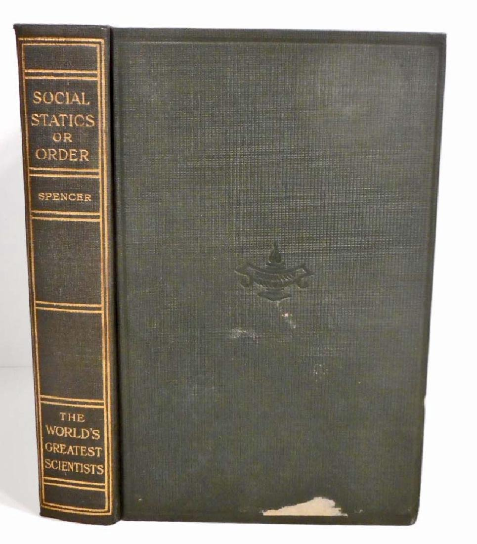 1915 WORLDS GREATEST SCIENTISTS SPENCER HARDCOVER BOOK