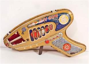 VINTAGE 1960S JAPANESE TIN LITHO TOY SPARKING RAY GUN