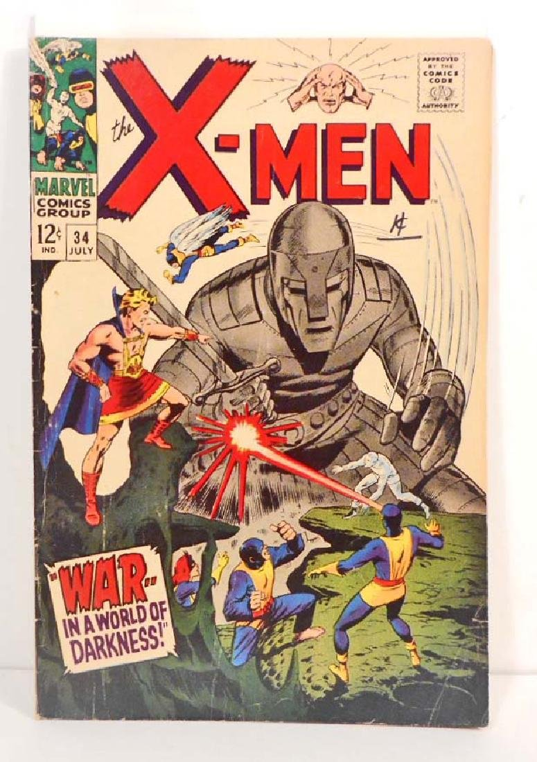 1967 THE X-MEN NO. 34 COMIC BOOK - 12 CENT COVER