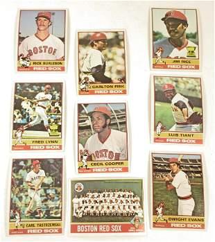LOT OF 9 VINTAGE 1976 TOPPS BASEBALL CARDS