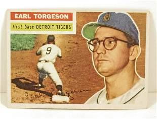 1956 TOPPS EARL TORGESON 147 BASEBALL CARD