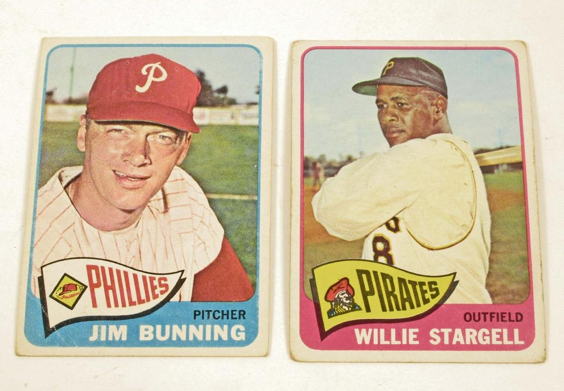 LOT OF 2 1965 TOPPS BASEBALL CARDS - BUNNING & STARGELL