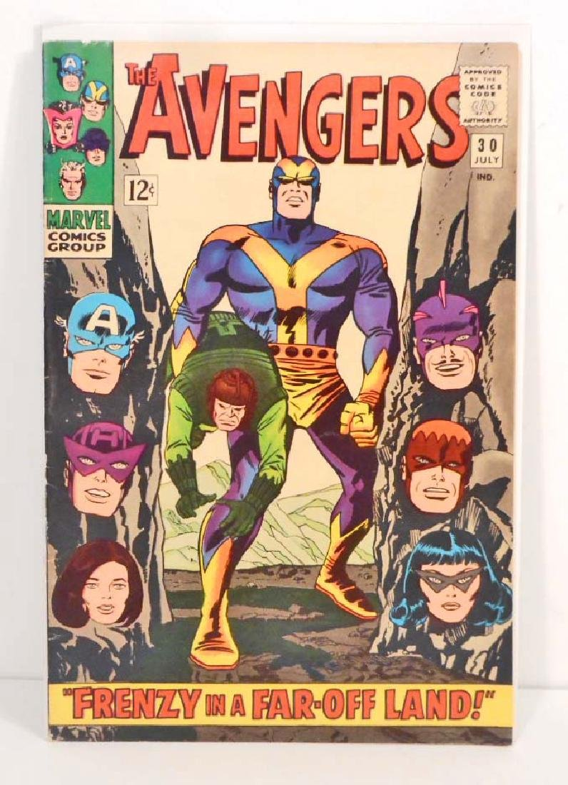 1966 THE AVENGERS ISSUE #30 COMIC BOOK - 12 CENT COVER