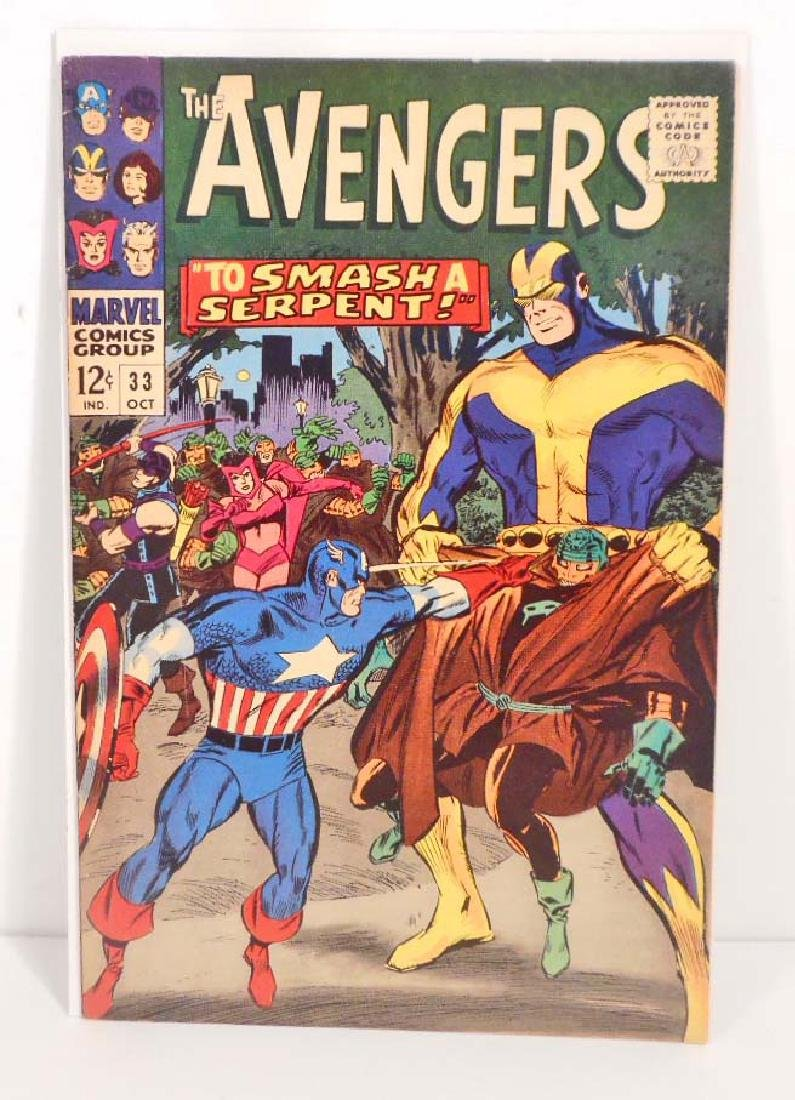 1966 THE AVENGERS ISSUE #33 COMIC BOOK - 12 CENT COVER