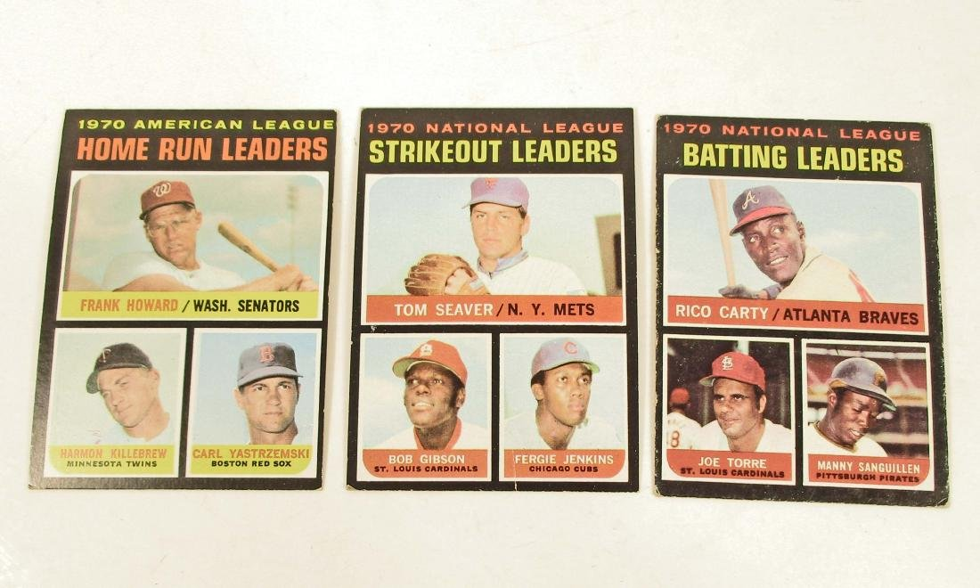 LOT OF 3 1971 HALL OF FAMER BASEBALL CARDS -