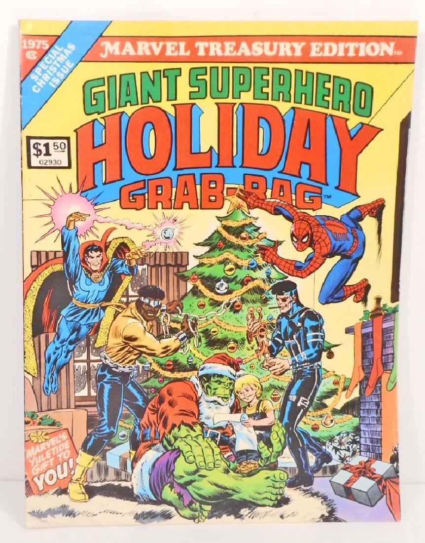 1975 GIANT MARVEL SUPERHERO GRAB BAG HOLIDAY COMIC BOOK